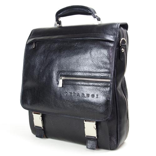 CHIARUGI キアルージ 牛革 ビジネスバッグ リュックタイプ 3WAYバッグ ブラック Art.94563